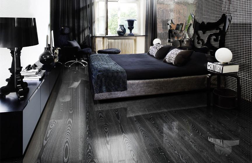 Černošedá podlaha