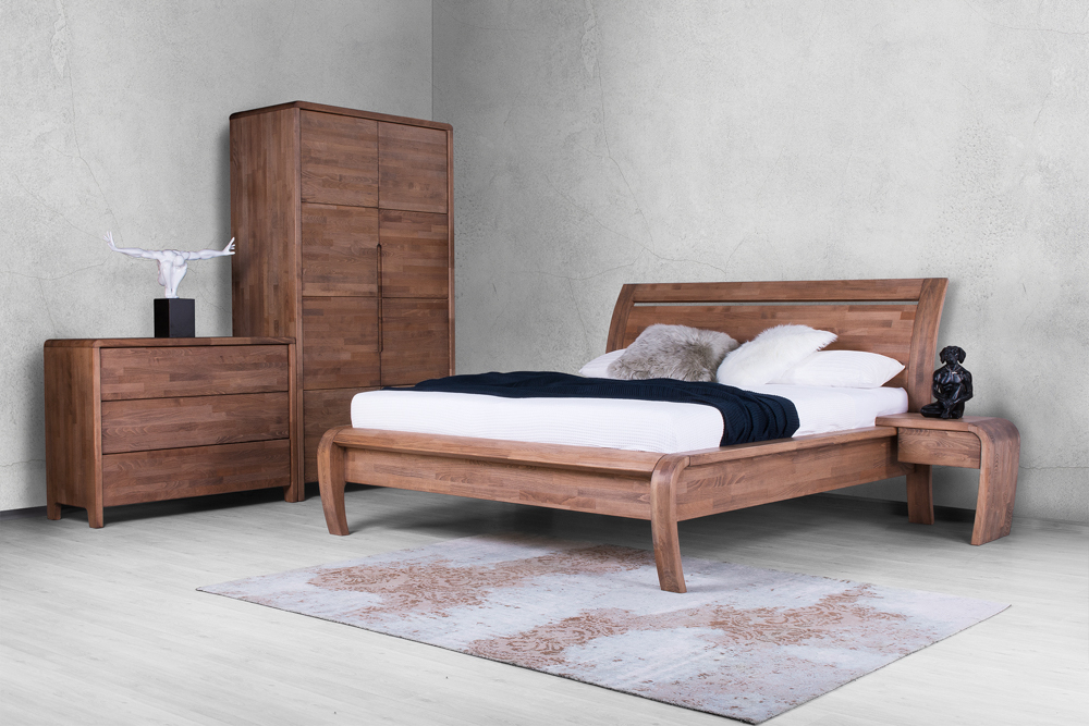 Elegantní ložnice představuje skvělou oázu odpočinku