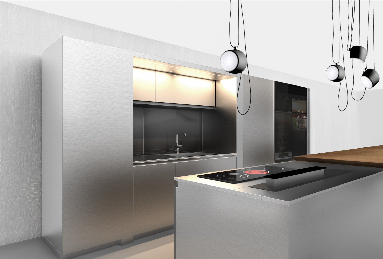 Luxusní stříbrná kuchyně