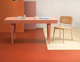 Oranžová podlaha