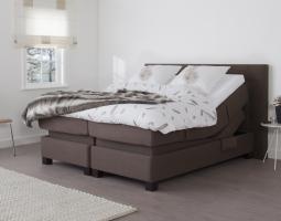 Polohovací postel hnědá KLS2000