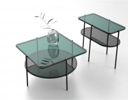 Skleněné stolky