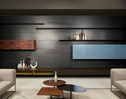 Obývací stěna v moderním duchu
