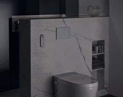 Podsvícená toaleta