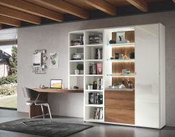 Stavebnicová obývací stěna MEGA-DESIGN