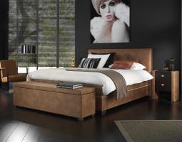 Hnědá postel Bellevile