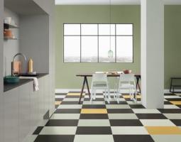 Podlaha se vzory do kuchyně