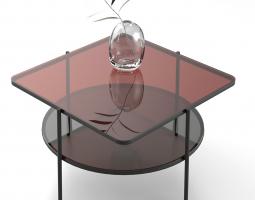Skleněný stolek