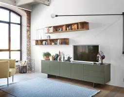 Stylová obývací stěna